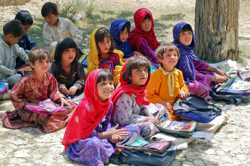 Schoolchildren in Afghanistan
